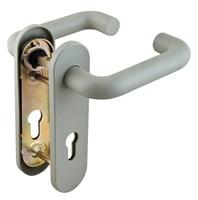 Ручка дверная для противопожарных дверей Fuaro (СЕРАЯ) с пружиной для замка, НЕЙЛОН