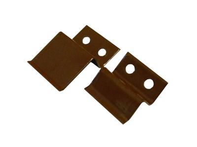 Крепление верх-низ металлические, коричневые (2 пары) - фото 4663