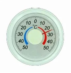 Термометр оконный биметаллический, круглый - фото 5508