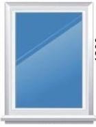 Окно из ПВХ 1230*780, глухое - фото 5847