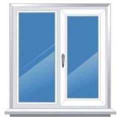 Окно из ПВХ 1380*1280 - фото 5849