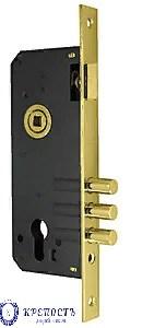 Корпус врезного замка с защелкой 900 3MR/PB W/B, золото - фото 6207