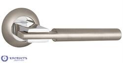 Ручка раздельная CITY TL SN/CP-3 матовый никель/хром, квадрат 8*140 мм - фото 6442
