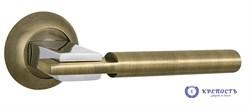 Ручка раздельная CITY TL ABG/CP-6 зеленая бронза/хром, квадрат 8*140 мм - фото 6445