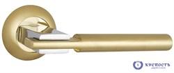 Ручка раздельная  CITY TL SG/CP-4 матовое золото/хром, квадрат 8*140 мм - фото 6448