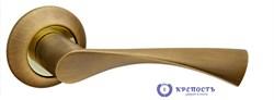 Ручка раздельная  CLASSIC AR AB/GP-7 бронза/золото, квадрат 8x140 мм - фото 6495