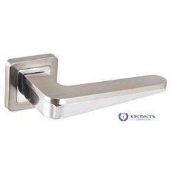 Ручка раздельная  ICE XM SN/CP-3 матовый никель/хром, квадрат 8*130 мм - фото 7069