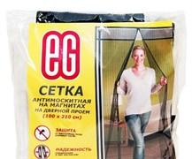 Сетка москитная  на двери с магнитной застежкой: сетка 1,0м х 2,1м + крепеж, черная