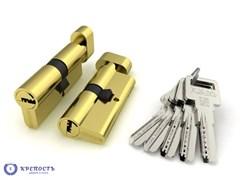 Цилиндровый механизм   R602/80 mm (30+10+40)  с вертушкой, латунь 5 кл.