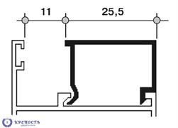 Штапик Provedal 25,5 мм RAL 7001, матовый