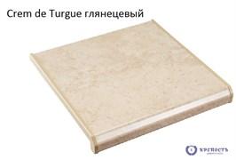 Подоконник Danke Creme de Turgue (светло-беж мрамор), глянец