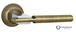 Ручка раздельная CITY TL ABG/CP-6 зеленая бронза/хром, квадрат 8*140 мм