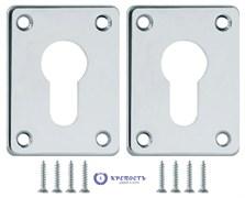 Декоративная накладка Fuaro ESC083-CP-8 ХРОМ на цилиндр  (1 пара)